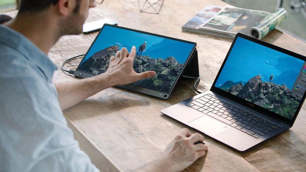 gadgets doble pantalla portatil