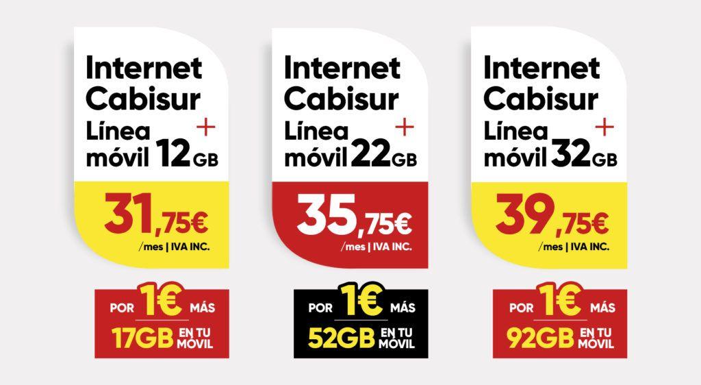 tarifas internet + móvil