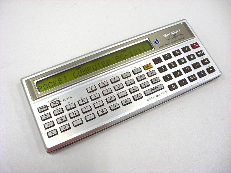 computadora de bolsillo años 80
